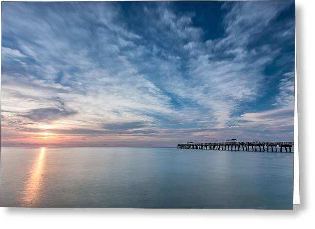Acrylic Greeting Cards - Outside Today Greeting Card by Jon Glaser