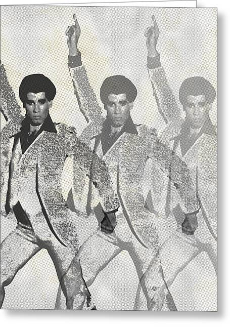 Disco Mixed Media Greeting Cards - Stayin Alive Pop 2 Greeting Card by Tony Rubino