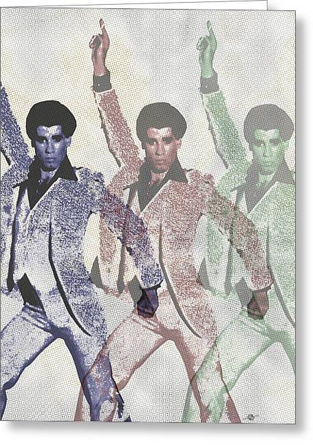 White Suit Greeting Cards - Stayin Alive Pop 4 Greeting Card by Tony Rubino