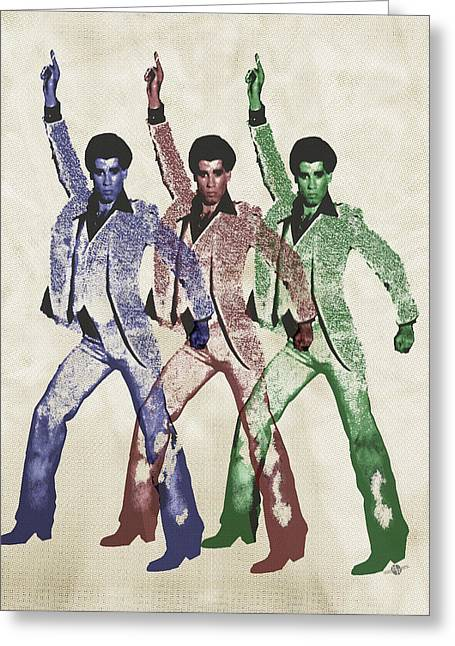 Disco Mixed Media Greeting Cards - Stayin Alive Pop 5 Greeting Card by Tony Rubino