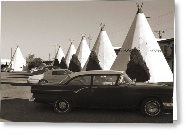 Highway Greeting Cards - Staying at the Wigwam 2 Greeting Card by Mike McGlothlen