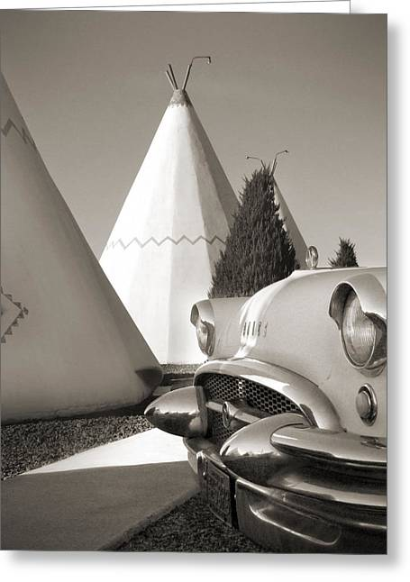 Highway Digital Greeting Cards - Staying at the Wigwam Greeting Card by Mike McGlothlen