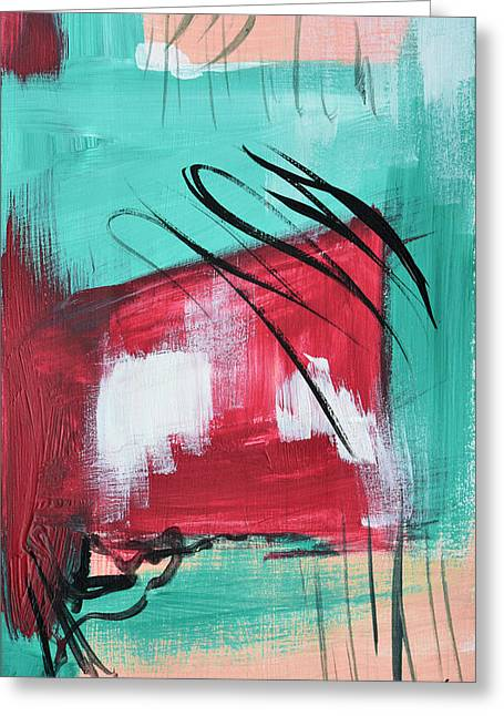 Miami Paintings Greeting Cards - Staying In Miami Greeting Card by Donna Blackhall