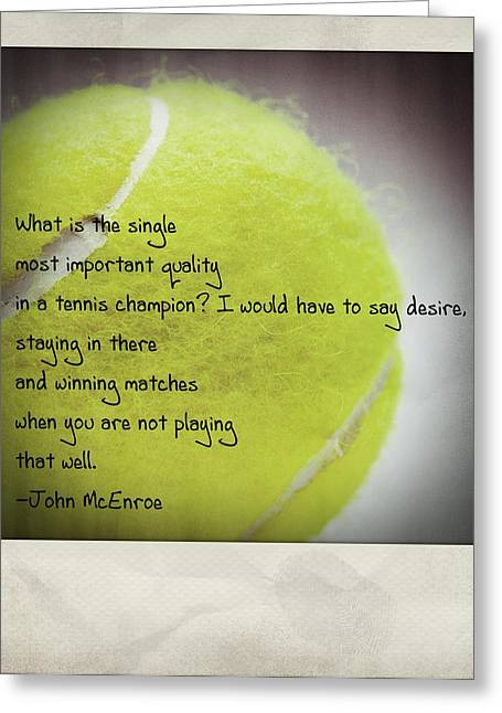 Mcenroe Greeting Cards - Staying In There And Winning Matches - John McEnroe Polaroid Greeting Card by Bradley R Youngberg