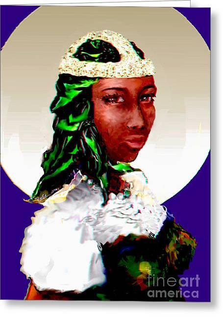 Slavery Digital Greeting Cards - Ste Kimpa Vita of Kongo Greeting Card by Alexis Feyou de Happy