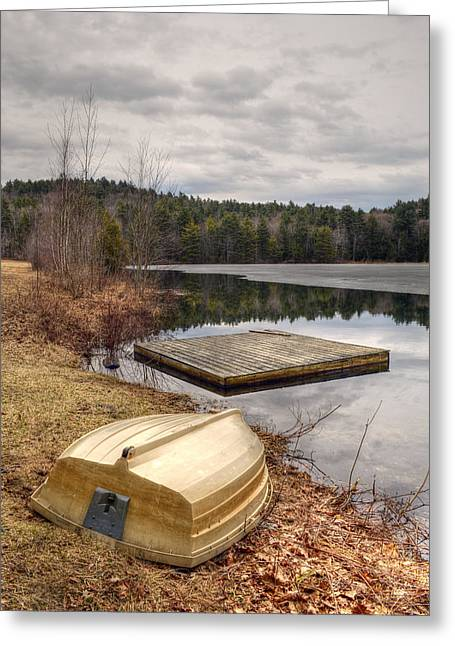 Overturn Greeting Cards - Steadman Pond in Early Spring Greeting Card by Geoffrey Coelho