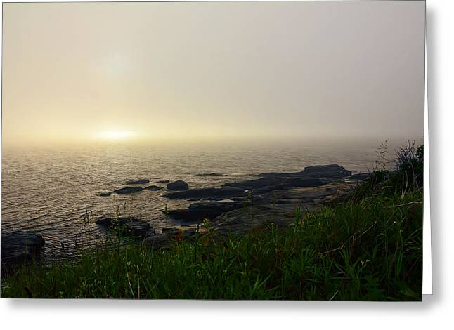 New England Ocean Greeting Cards - Steady Light Greeting Card by Lourry Legarde