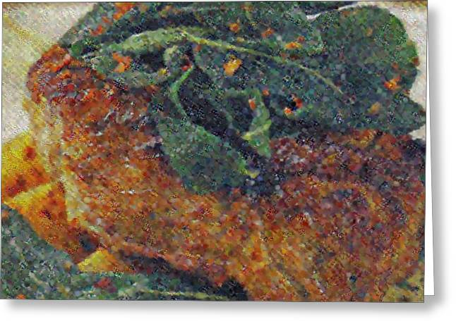 Interior Still Life Mixed Media Greeting Cards - Steak Greeting Card by M and L Creations