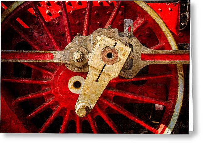 Steam And Iron - Driving Wheel Greeting Card by Alexander Senin