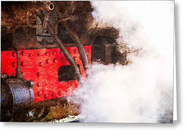 White Steamer Photos Greeting Cards - Steam And Iron - Enjoy Your Steam Greeting Card by Alexander Senin