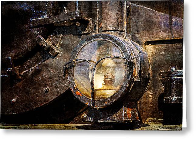 Oil Lamp Greeting Cards - Steam And Iron - Headlight Greeting Card by Alexander Senin