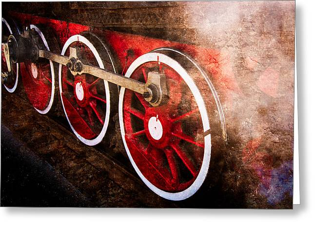 White Steamer Photos Greeting Cards - Steam And Iron - Keeping In Steam Greeting Card by Alexander Senin