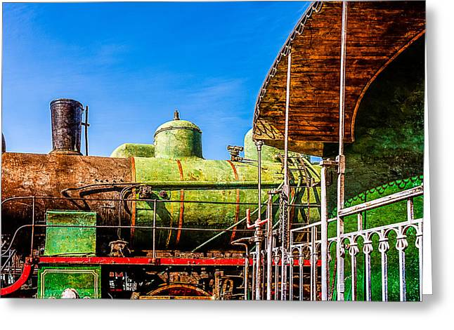 Driving Machine Greeting Cards - Steam And Iron - Last Station Greeting Card by Alexander Senin