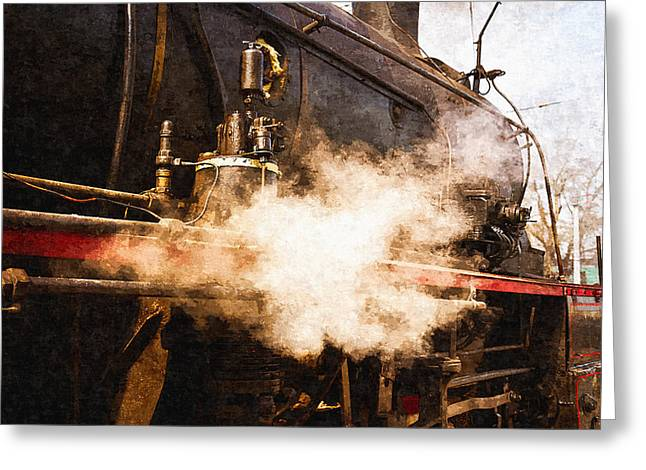 Air Element Greeting Cards - Steam And Iron - Ready For Departure Greeting Card by Alexander Senin