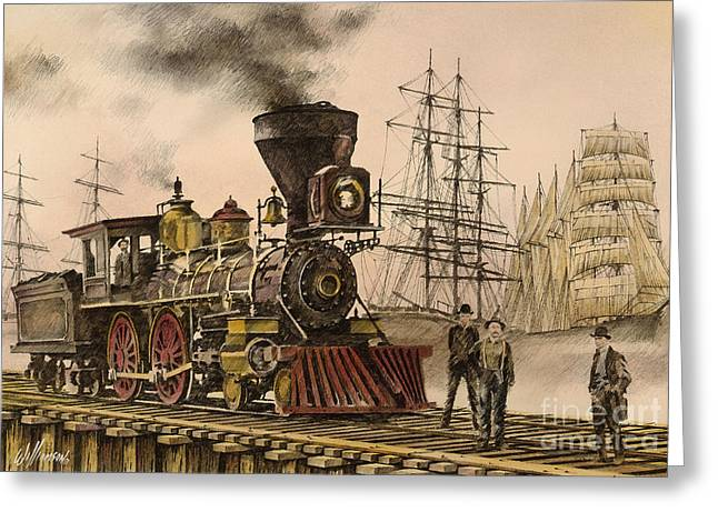 British Columbia Greeting Cards - Steam and Sail Greeting Card by James Williamson