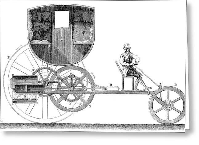 1801 Greeting Cards - Steam Carriage, 1801 Greeting Card by Granger