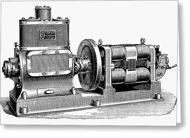 Steam-driven Dynamo Greeting Card by Granger