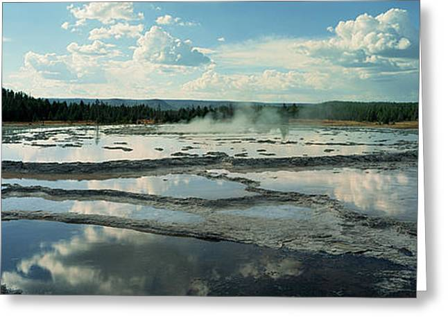 Steam Emerging From A Geyser, Great Greeting Card by Panoramic Images