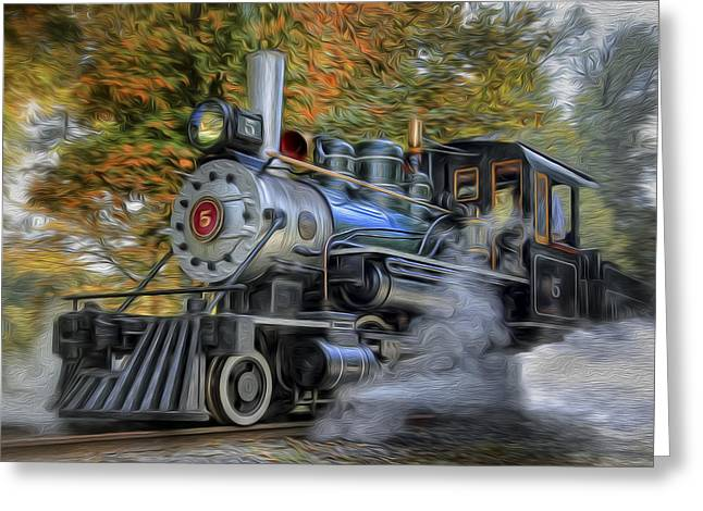 Bill Wakeley Photography Greeting Cards - Steam Engine Greeting Card by Bill  Wakeley