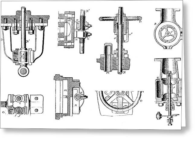 Steam Engine Components Greeting Card by Science Photo Library