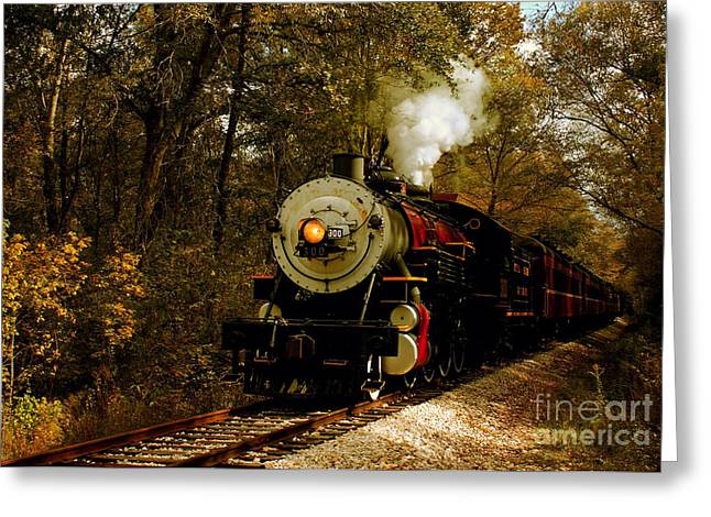 Hobo Greeting Cards - Steam Engine No. 300 Greeting Card by Robert Frederick