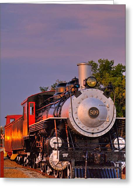 Forceful Greeting Cards - Steam Engine Number 509 Greeting Card by Douglas Barnett
