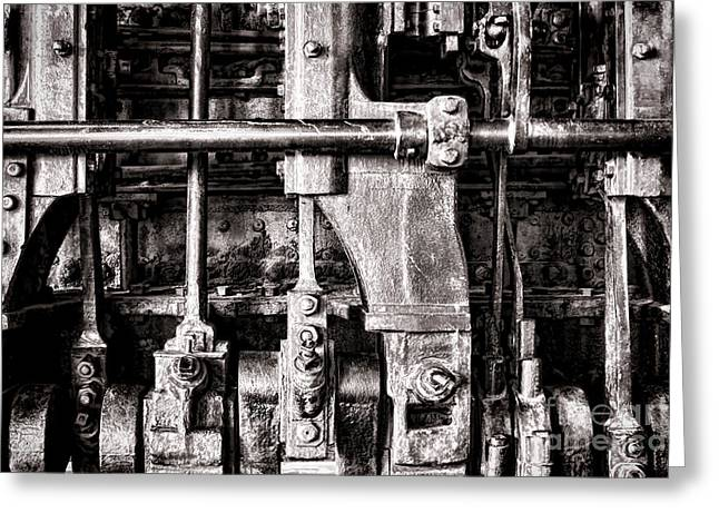 Steam Engine Greeting Card by Olivier Le Queinec