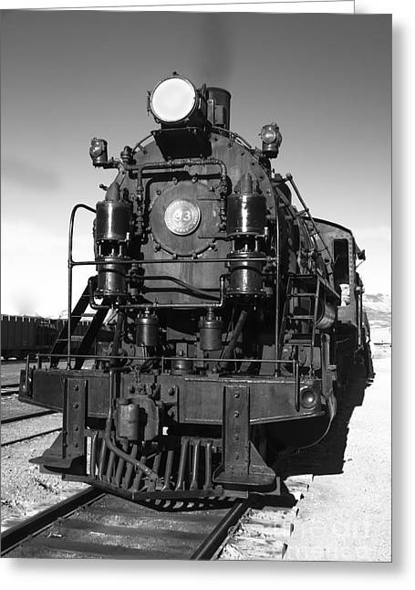 Steam Engine Greeting Card by Robert Bales