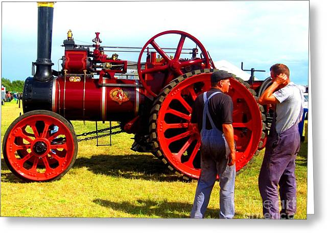 Dungarees Greeting Cards - Steam Fair Greeting Card by C  Lythgo