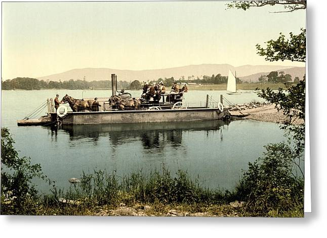 Horse And Cart Greeting Cards - Steam ferry, Lake Windermere, UK Greeting Card by Science Photo Library