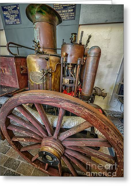 Boiler Greeting Cards - Steam Fire Engine Greeting Card by Adrian Evans