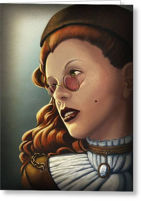 Character Portraits Greeting Cards - Steam Heritage Greeting Card by Dorianne Dutrieux