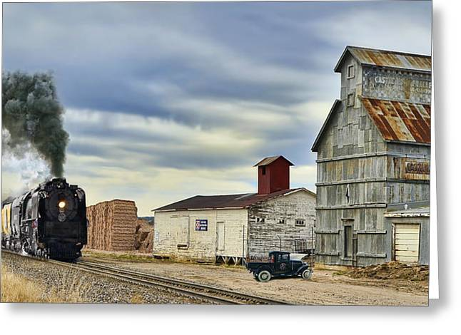 Union Pacific Greeting Cards - Steam in Castle Rock Greeting Card by Ken Smith
