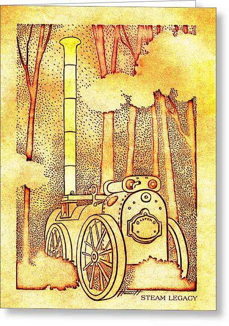 Steam Legacy Gold Greeting Card by Patricia Howitt