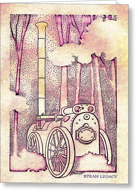 Aotearoa Greeting Cards - Steam Legacy Greeting Card by Patricia Howitt