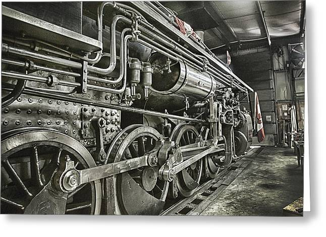Work Bench Greeting Cards - Steam Locomotive 2141 Greeting Card by Theresa Tahara