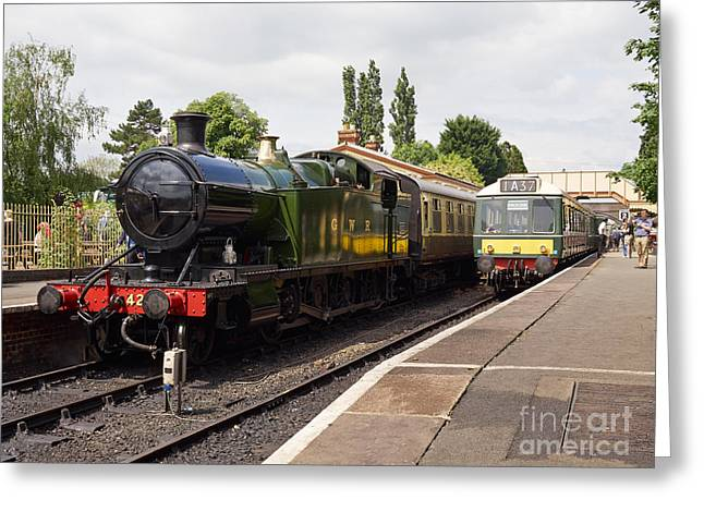 Steam Locomotive At Toddington Greeting Card by Louise Heusinkveld