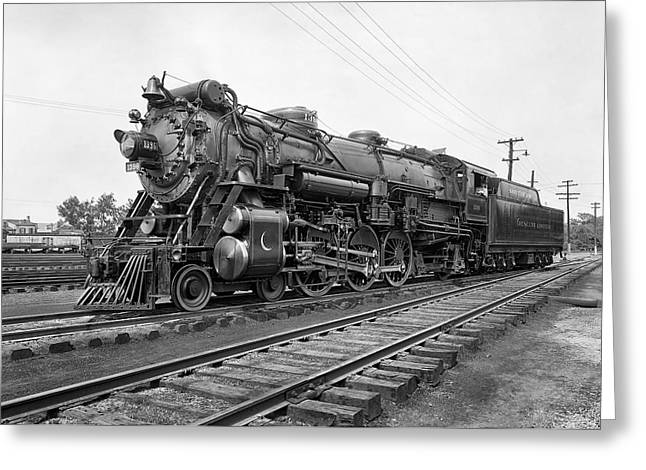 Wheels Photographs Greeting Cards - STEAM LOCOMOTIVE CRESCENT LIMITED c. 1927 Greeting Card by Daniel Hagerman