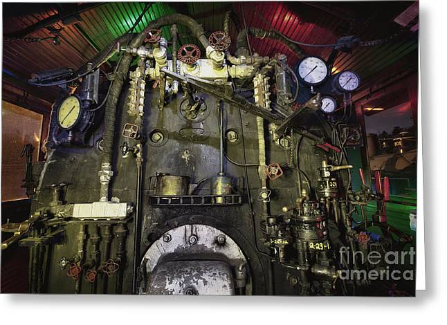 Boiler Greeting Cards - Steam Locomotive Engine Greeting Card by Keith Kapple
