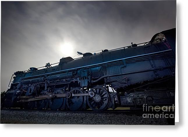 Boiler Greeting Cards - Steam Locomotive Greeting Card by Keith Kapple