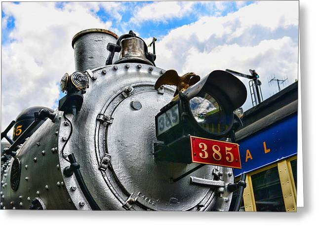 2-8-0 Greeting Cards - Steam Locomotive No. 385 Greeting Card by Paul Ward