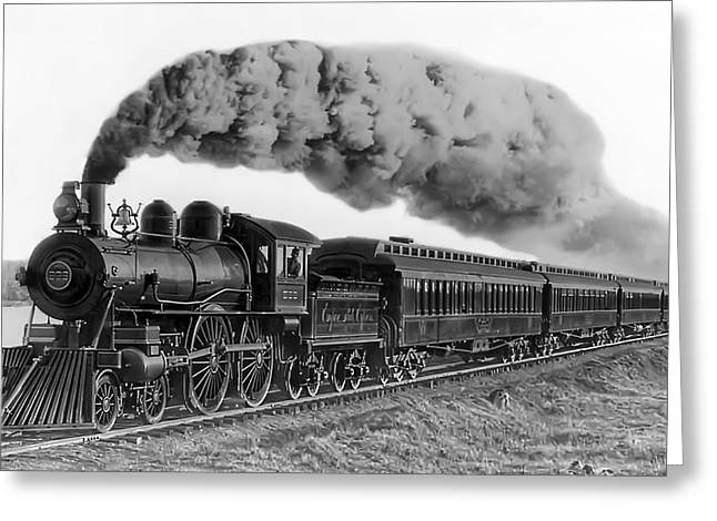 Plumed Greeting Cards - Steam Locomotive No. 999 - C. 1893 Greeting Card by Daniel Hagerman