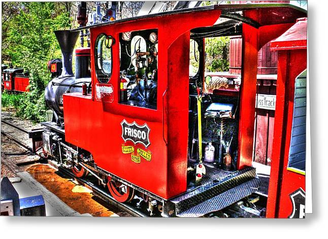 Mechanism Greeting Cards - Steam locomotive old West v2 Greeting Card by John Straton