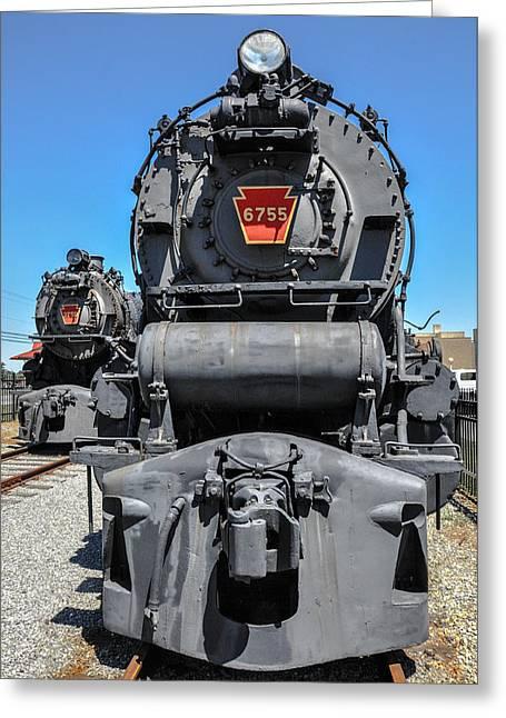 Strasburg Greeting Cards - Steam Locomotive - Strasburg Pa Greeting Card by Bill Cannon