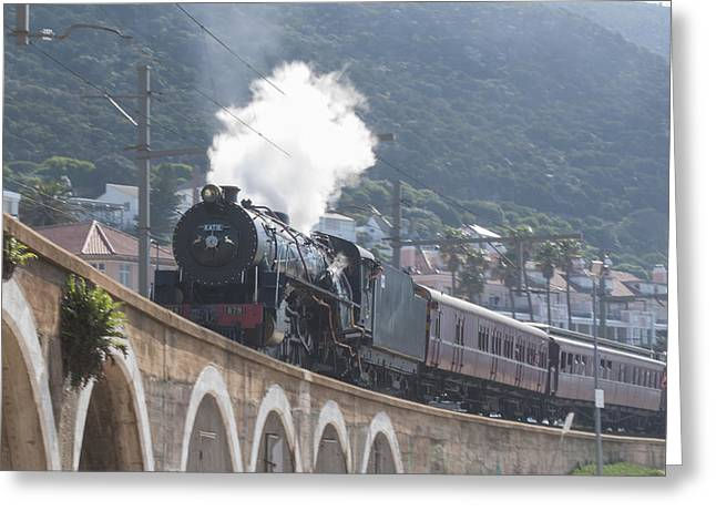 Tom Hudson Greeting Cards - Steam Locomotive Greeting Card by Tom Hudson