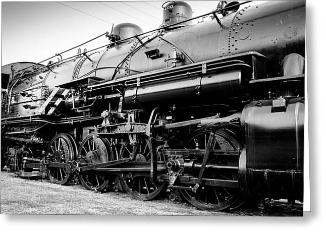 Steam Locomotive Greeting Cards - Steam Power Greeting Card by Geoff Mckay