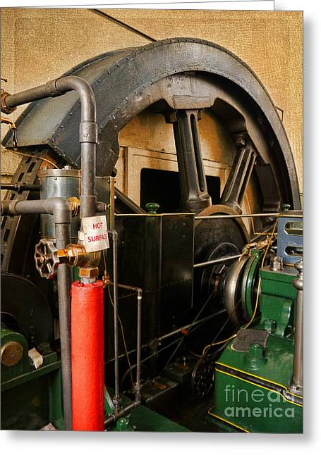 Textile Museum Greeting Cards - Steam Power Greeting Card by Gillian Singleton