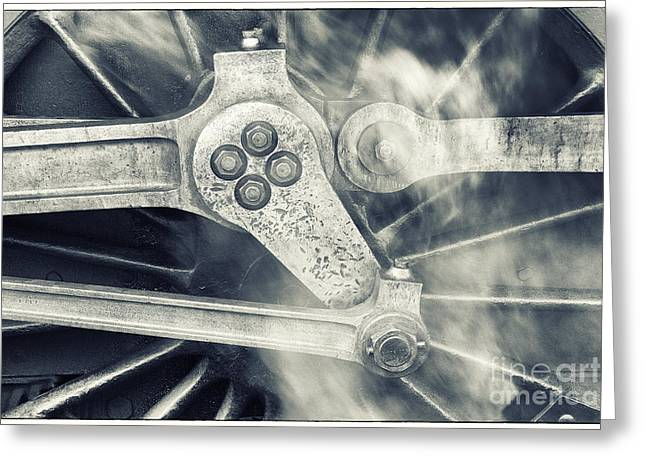 Mechanism Greeting Cards - Steam Power Greeting Card by John Potter