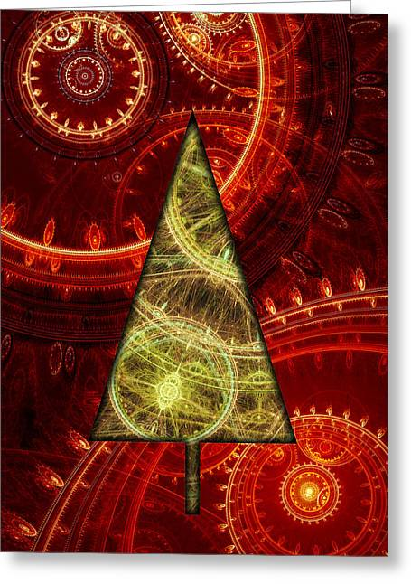 Christmas Greeting Greeting Cards - Steam punk christmas 1 Greeting Card by Martin Capek