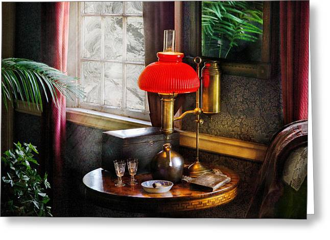 Smoker Greeting Cards - Steam Punk - Victorian Suite Greeting Card by Mike Savad